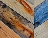 Chevron Inspired Reclaimed Wood Wall--12x20 Photographic Print--GREAT Texture
