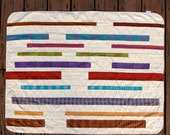 Stripe Baby Blanket, Modern Vertical Stripes
