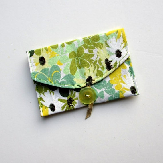 Business Card Case,  Business Card Holder, Fabric Wallet