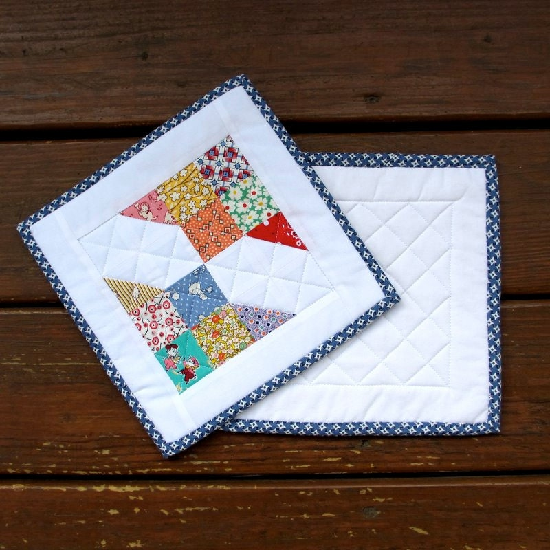 how to make easy quilted pot holders