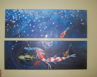 Large koi painting