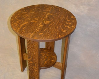 Exposed Tennon Tabouret Table End Stand  Mission Style Free Shipping