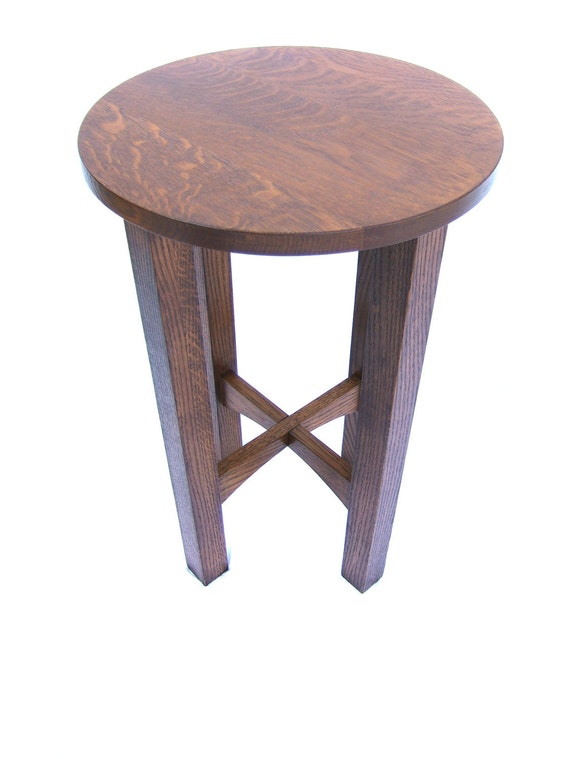 reproduction stickley tabouret table end stand free shipping