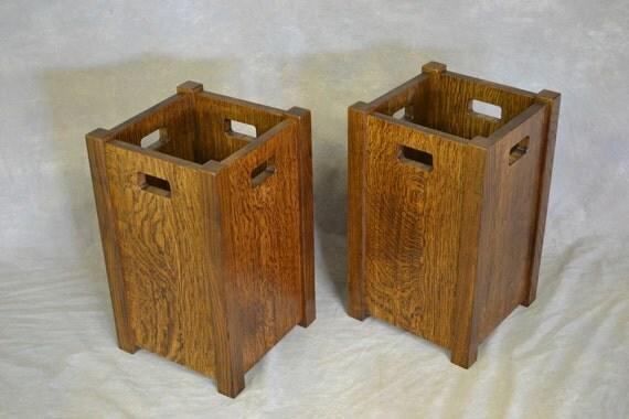 Oak Waste Basket ~ Mission oak waste basket free shipping