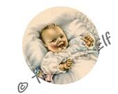 Vintage baby Edible Icing Sheet