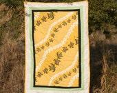 Tribal Honu Yellow Hawaiian Print Quilt
