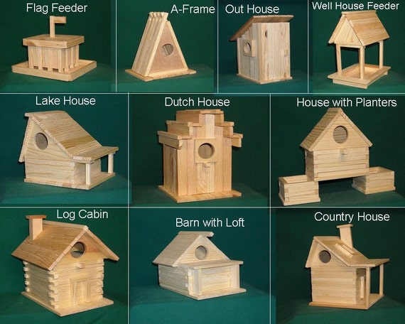 20 kits  Wood Bird house kit collection