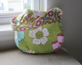 ON SALE - Gorgeous Purse with Ruffle - Michael Miller Secret Garden Prints