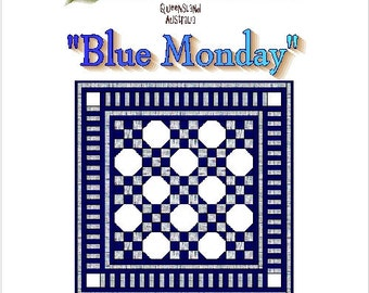 BLUE MONDAY - Quilt-Addicts Patchwork Quilt Pattern