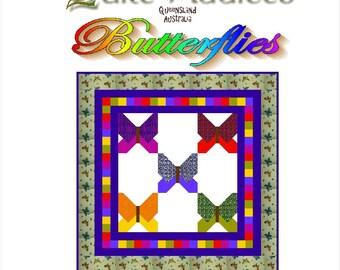 BUTTERFLIES - Quilt-Addicts Patchwork Quilt Pattern