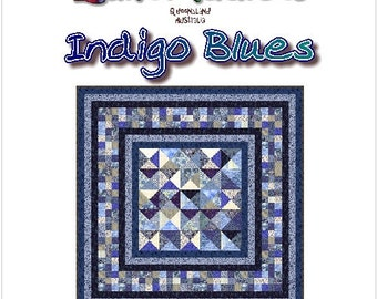 INDIGO BLUES - Quilt-Addicts Patchwork Quilt Pattern