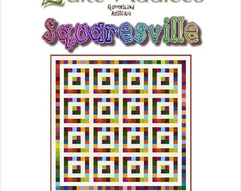 SQUARESVILLE - Quilt-Addicts Patchwork Quilt Pattern