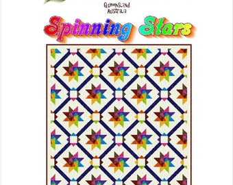 SPINNING STARS - Quilt-Addicts Patchwork Quilt Pattern