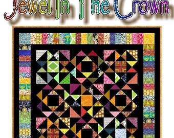 JEWEL In THE CROWN - Quilt-Addicts Patchwork Quilt Pattern