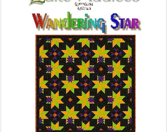 WANDERING STAR - Quilt-Addicts Patchwork Quilt Pattern
