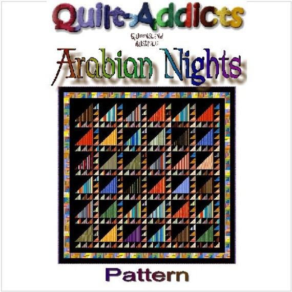 ARABIAN NIGHTS - Quilt-Addicts Patchwork Quilt Pattern
