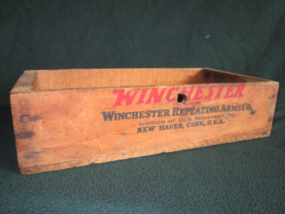 Wood Box Winchester 22 Ammo Vintage Wooden Box Clear