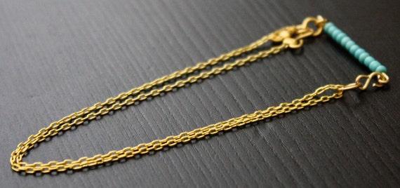 Dainty Turquoise double chain bracelet