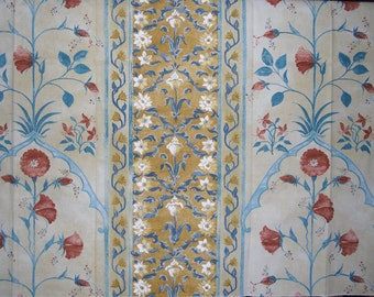 Designer Fabric - Discontinued Upholstery Fabric - Arte Sample - Benares Design - Printed in the Netherlands - 100% Cotton