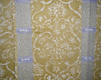 Designer Fabric Sample - Discontinued Upholstery Sample - Arte Palmyra Design - Gold and Silver - Printed in the Netherlands - 100% Cotton