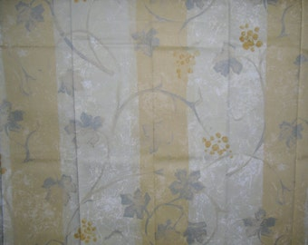 Designer Fabric Arte Discontinued Sample Design is Toscane in Gold and Grey Printed in Belgium 100% Cotton