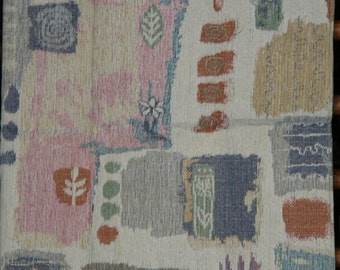 Vintage Fabric Material Upholstery Modern Pattern in Pastel Shades