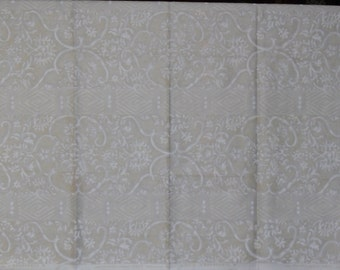 Designer Fabric Discontinued Sample Arte Design Palmyra Color - Cream and Gold