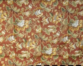 Designer Fabric Upholstery Sample Duralee Color - Cinnabar - 100% Cotton