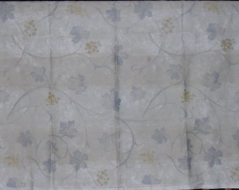 Designer Fabric Discontinued Sample Arte Pattern Toscane Pale Shades of Gold, Grey and Taupe 100% Cotton