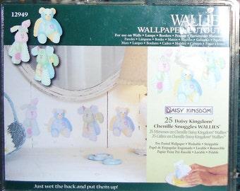 Wallies Wallpaper Cutouts - 25 Daisy Kingdom, Chenille Snuggles, Wallies 12949 - Nursery Decor, Childrens Room, Crafts, Scrapbooking