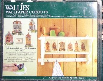 Wallies Wallpaper Cutouts / 25 Susan Winget Birdhouses Wallies 12973 / Crafts, Scrapbooking