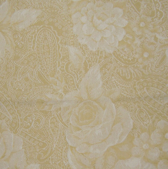 Designer Fabric Elite Discontinued Sample Pattern - Bergan Color Gold and White