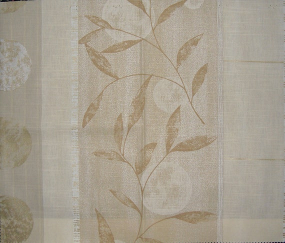 Designer Fabric Discontinued Drapery Sample Pattern is Hickory Ridge in Gold and Cream