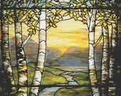 Cross Stitch Pattern Stained Glass Valley Exquisite Art Instant Download PdF