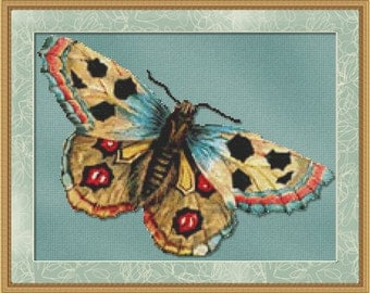 Cross Stitch Pattern Vintage Butterfly Instant Download PdF