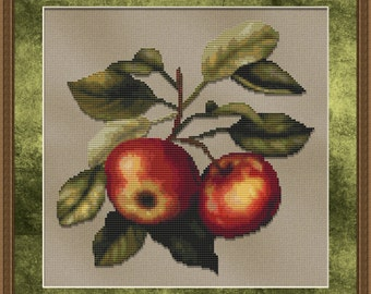 Cross Stitch Pattern Delicious Apples Cross Stitch Design / Pattern