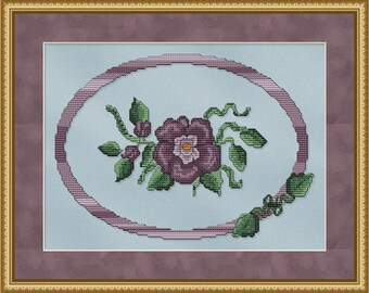 Cross Stitch Pattern Regal Beauty Cross Stitch Pattern / Design