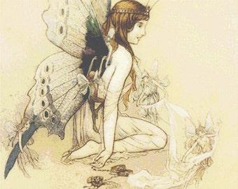 Cross Stitch Pattern Fairy Wings Cross Stitch Pattern / Design