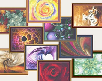 Counted Cross Stitch Pattern Bundle of 10 Most Popular Fractal Abstract Designs Instant Download PdF - StitchX Best Seller