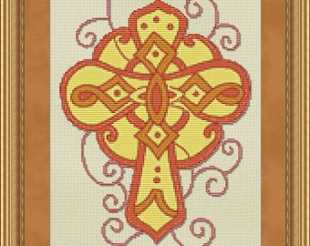 Cross Stitch Pattern Ornate Cross no. 3 Cross Stitch Pattern