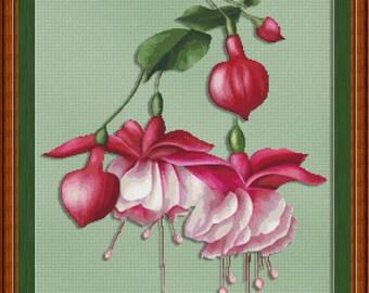 Cross Stitch Pattern Sweet Nectar Flowers Instant Download PdF