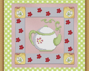 Cross Stitch Pattern Teapot Cross Stitch Pattern / Design