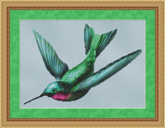 Cross Stitch Pattern Hummingbird Instant Download PdF