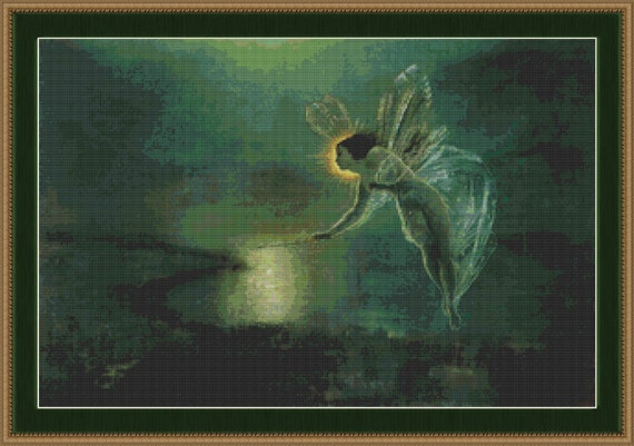 Cross Stitch Pattern Spirit of the Night Fairy Cross Stitch Pattern / Design pdf XStitch Patterns Pixie