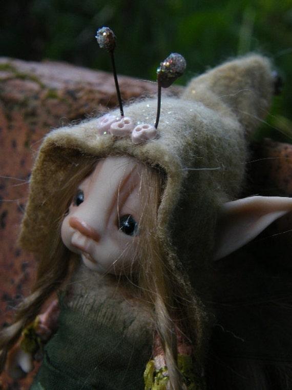 tiny sweet bug fairie fairy ooak polymer posable
