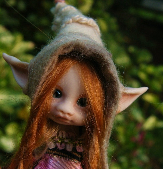 sweet tiny redhaired fairy fairie posable ooak