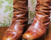 Sally.  Vintage Leather Boots by Country Lane