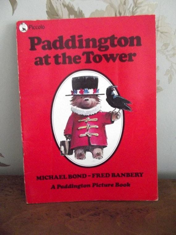 Paddington bear / in London / book  / childrens book / vintage / Tower of london