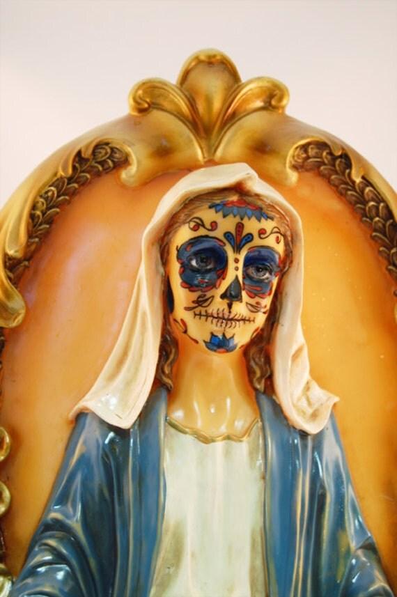 Dia de los muertos Mother Marry Plaque - ON SALE