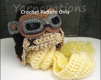 Mens Halloween Costume - Pilot - Crochet Aviator - Crochet Pattern